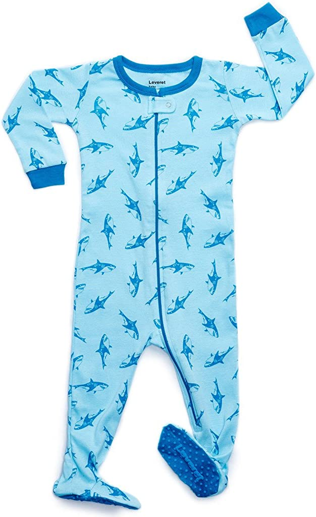 Leveret Baby Boys Footed Pajamas Sleeper 100% Cotton Kids & Toddler Owl Pjs (6 Months-5 Toddler)