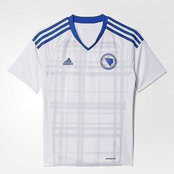 635e864f5 adidas Boy's Replica Football Jersey Bosnia and Herzegovina Away Shirt  Replica White White/Boblue Size