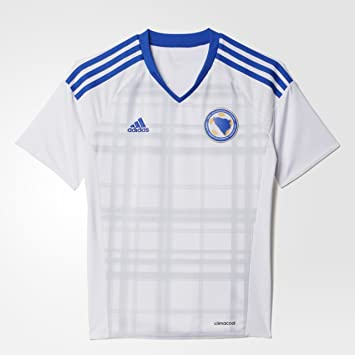 adidas Camiseta Bosnia Herzegovina visitante Réplica Blanco White Boblue  Talla 128 c967ed7b71879
