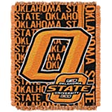 NCAA Oklahoma State Cowboys 48 x 60-Inch Double Play Jacquard Triple Woven Throw