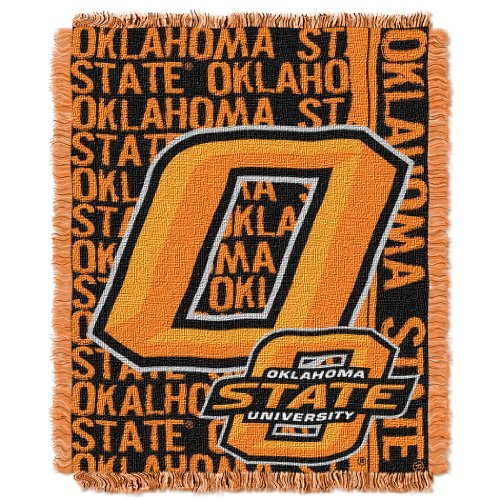 The Northwest Company Officially Licensed NCAA Oklahoma State Cowboys Double Play Jacquard Throw Blanket, 48
