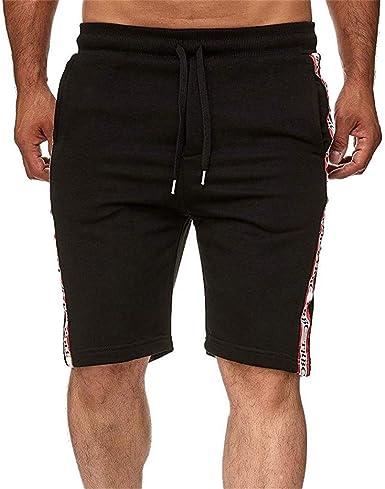Pantalones Cortos para Correr Hombre Hombres De AlgodóN Multibolsillos Pantalones Cortos Pantalones De Moda: Amazon.es: Ropa y accesorios