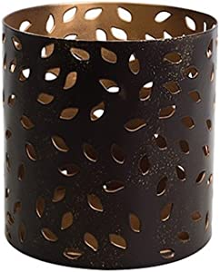 WoodWick Glowing Leaf with Vanilla Bean Petite Gift Set Candle