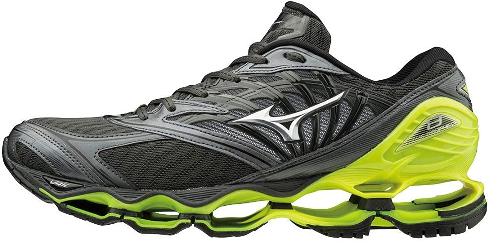 Mizuno Wave Prophecy 8 Zapatillas de Running, Hombre, Negro (Dark Shadow/Silver/Safety Yellow 05), 46 EU: Amazon.es: Ropa y accesorios