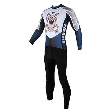 Ciclismo Trajes Cilindro de manga larga bicicleta pantalones y ...
