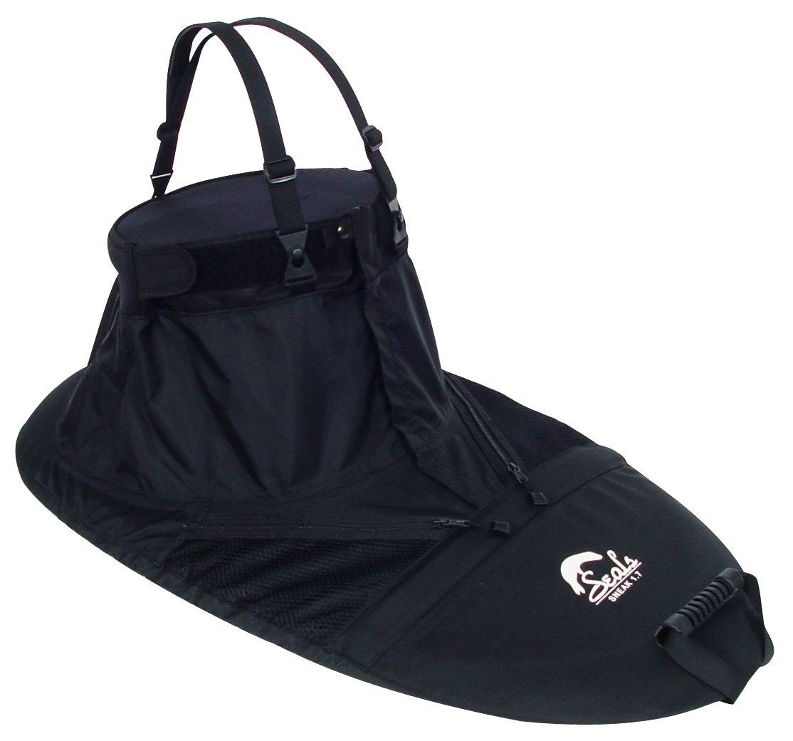 Seals Sneak Zippered Spray Skirt, 1.2, Black