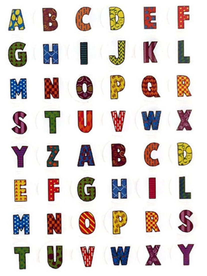 Educational Fun Stickers Help Teaching Alphabet Irit stickers Beautifully Illustrated A To Z Alphabet Letters Stickers Colorful Decorative 10 Sheets