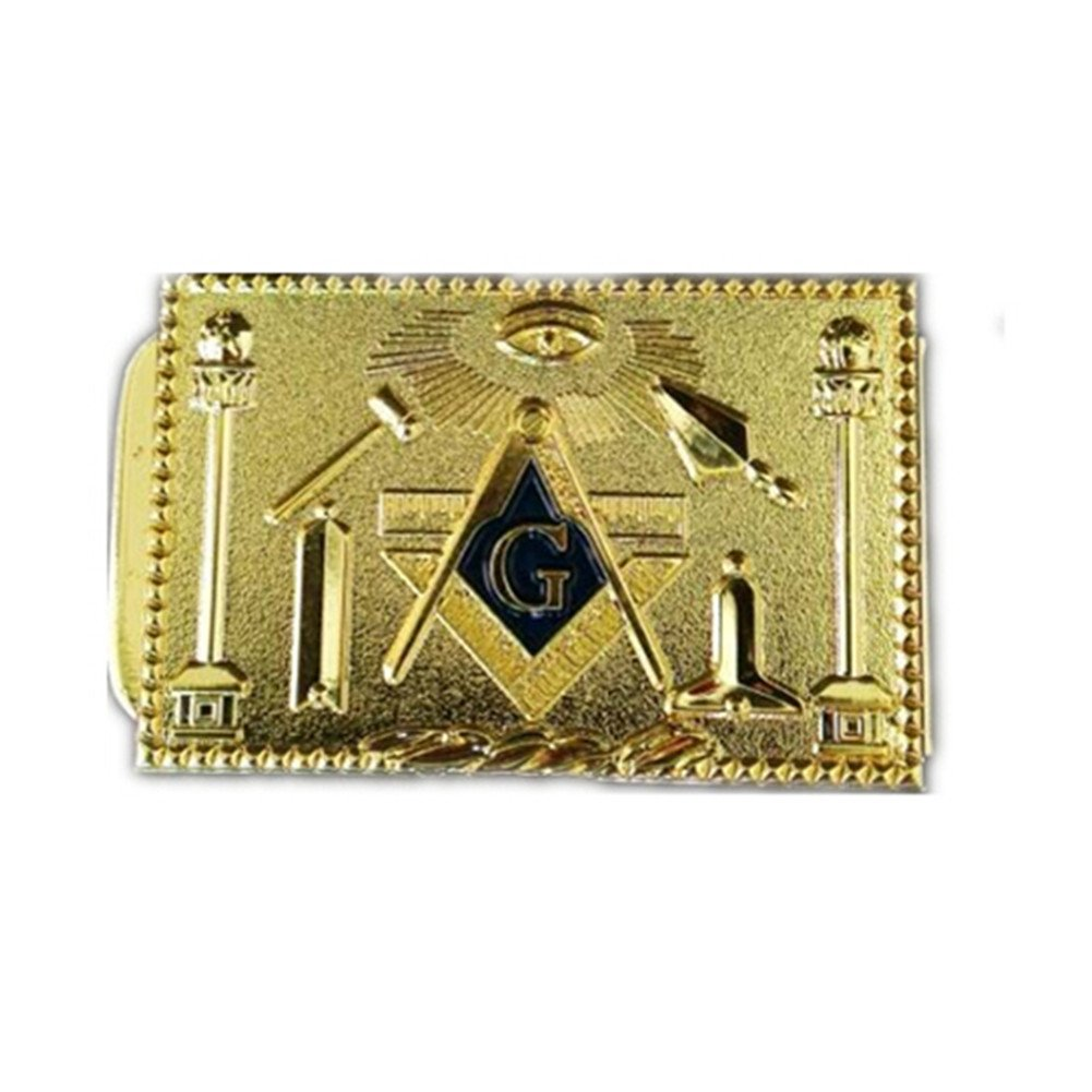 Gudeke Masonic Money Clip Gold
