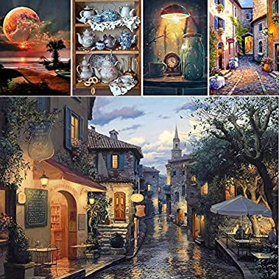 qiguch66 DIY Diamond Painting,30x40cm Scenery Cross Stitch Embroidery DIY Full Round Diamond Painting Decor,Arts Craft for Home Wall Decor 8: Kitchen & Dining