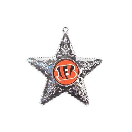 Amazon.com   Boelter NFL Cincinnati Bengals Silver Star Ornament ... 3c403e37a