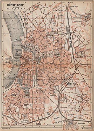 Amazon Com Dusseldorf Town City Stadtplan Northrhine Westfalia