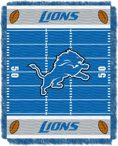 NFL Detroit Lions Field Woven Jacquard Baby Throw Blanket, 36x46-Inch