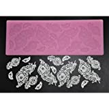 FOUR-C Decorating Supplies Silicone Baking Mat Sugar Lace Mold for Design Color Pink