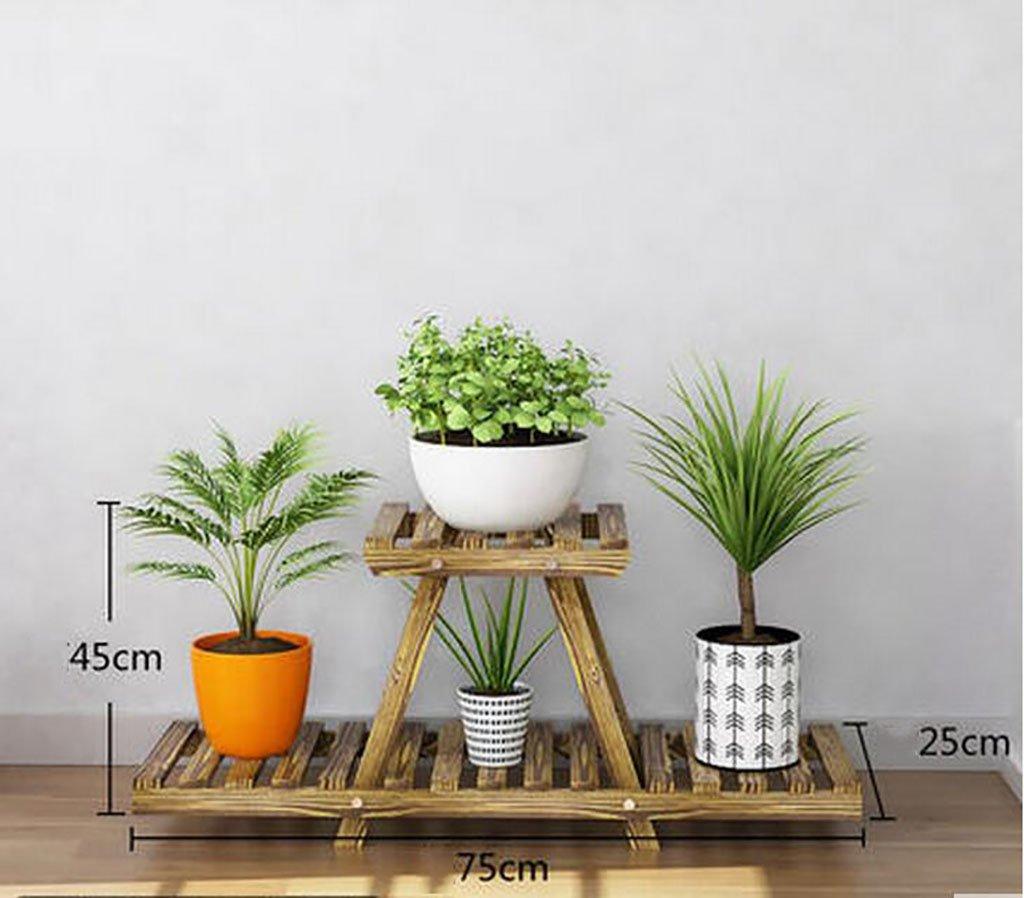 Antiséptico madera flores soporte anti - corrosión madera maciza flores accesorio de exterior balcón plantas soporte de pantalla Multi - funcional maceta ...