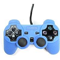 Playstation 2 Silikon Schutzhülle Controller Hülle für PS2 Blau