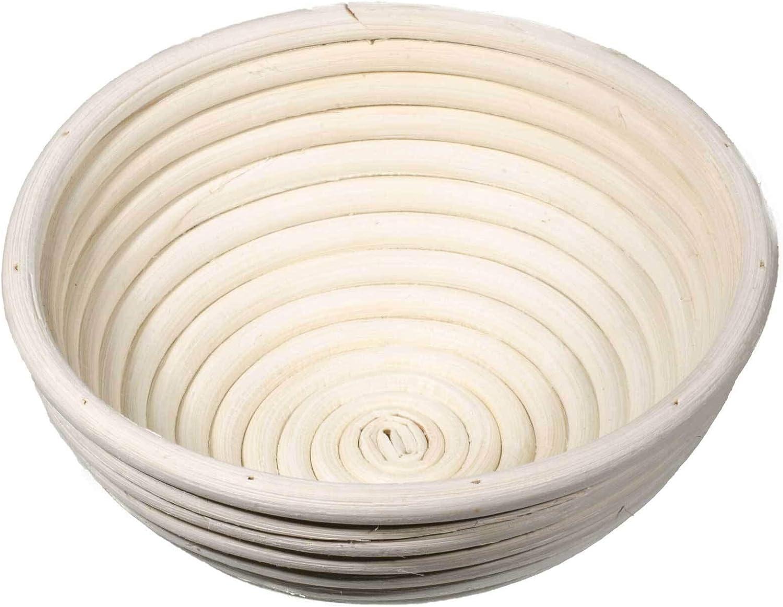 SIDCO G/ärkorb G/ärk/örbchen 2 x G/ärk/örbe Brotform oval rund Peddigrohrkorb 0,5 Kilo