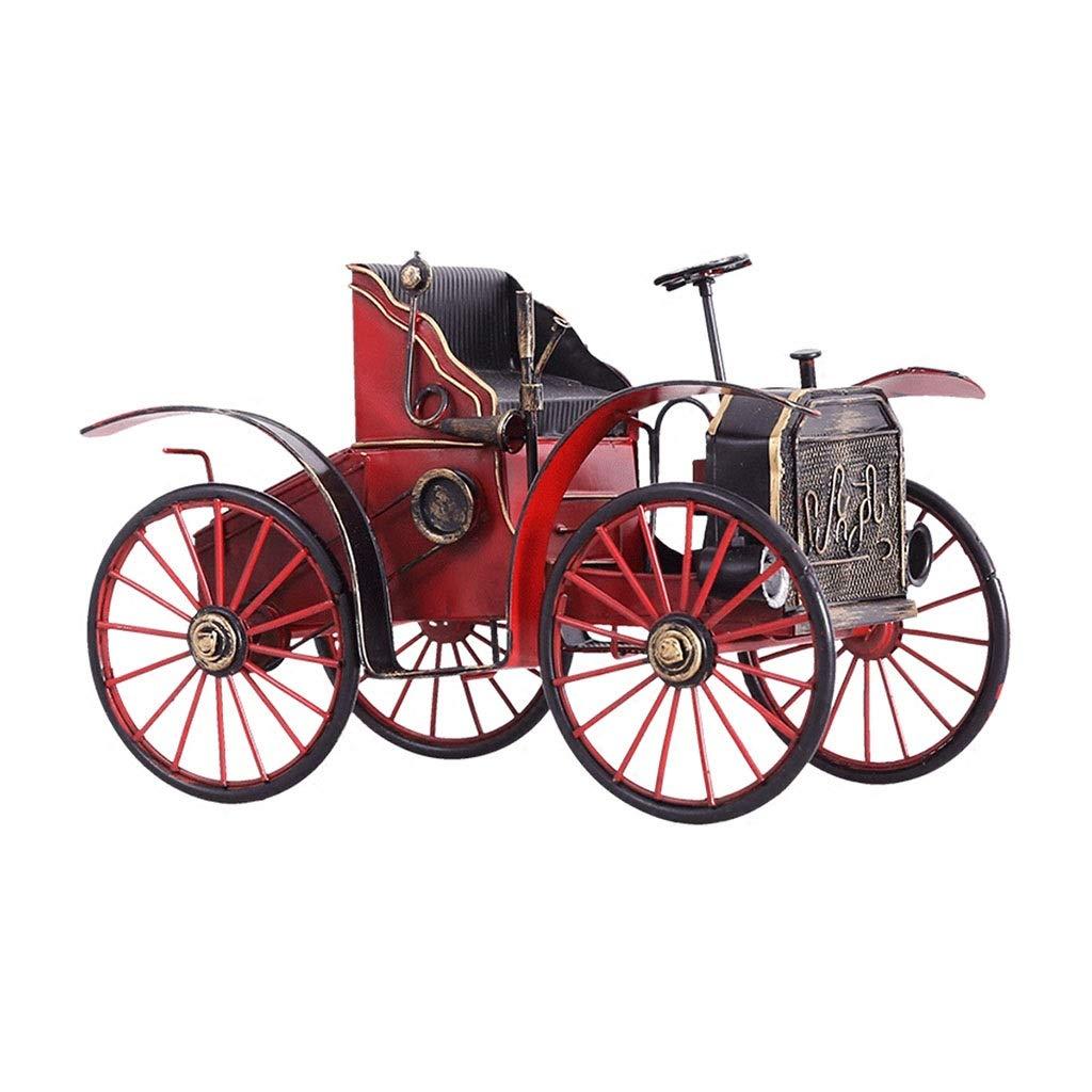 Color : Red LINGLING-Modelo Metal Modelo Retro Decoraci/ón Hierro Forjado Calabaza Modelo De Coche Joyer/ía del Gabinete del Vino TV Gabinete Estanter/ía Pantalla
