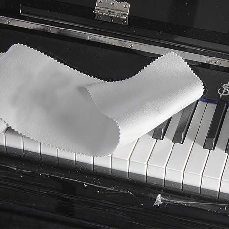 Tastatur Klavier Abdeckung aus Wolle 128 x 15cm Beige Halterbar zum Schutz