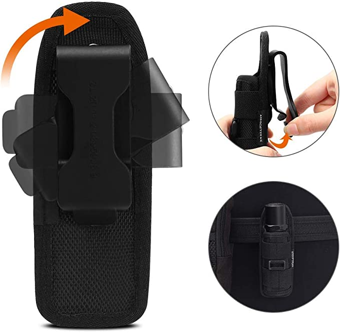 Flashlight Pouch Holster Carry Case Holder with 360 Degrees Rotatable Belt BT