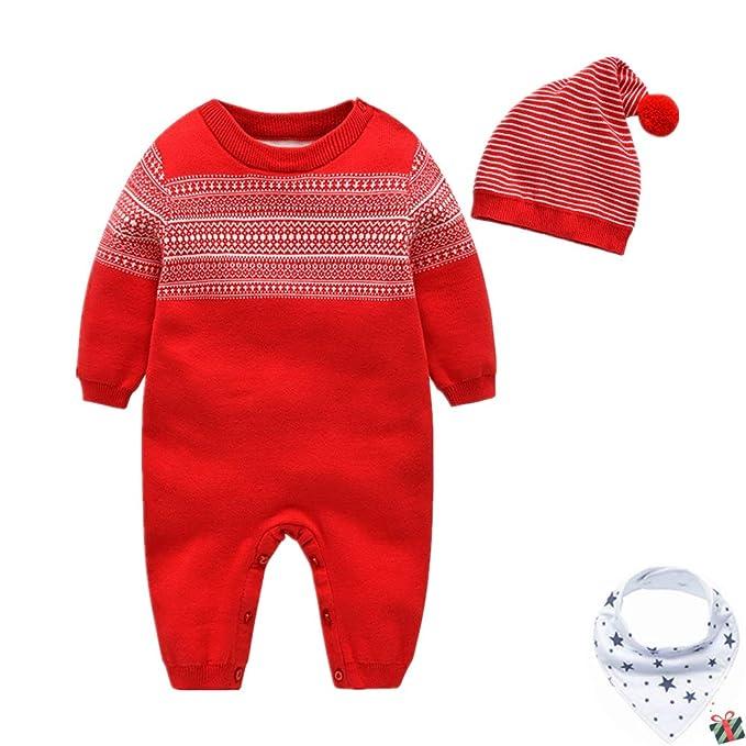 Morbuy Traje de Nieve Bebé de Navidad, Recién Nacido Espesar ...