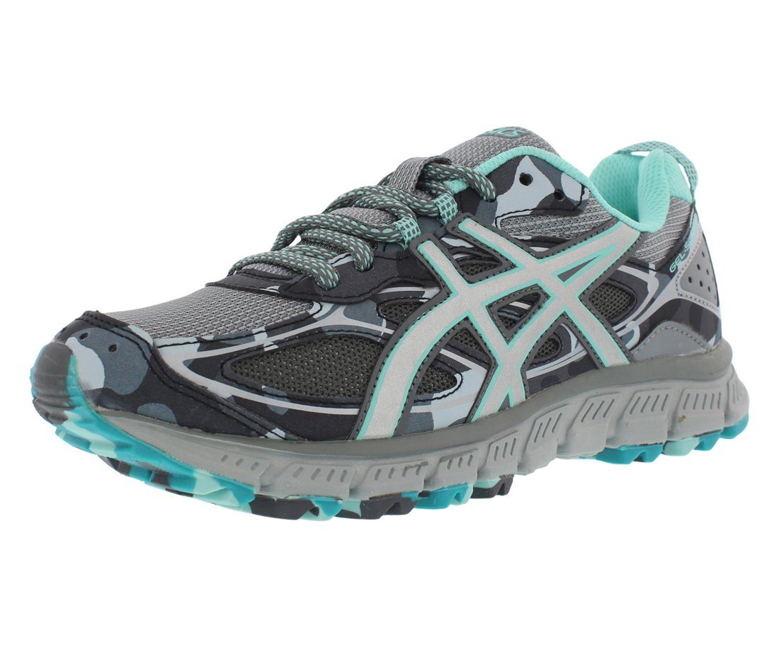 new style 000fc 4b1e9 ASICS Women's Gel-Scram 3 Running Shoes Stone Grey/Silver/Aruba Blue 9 B(M)  US