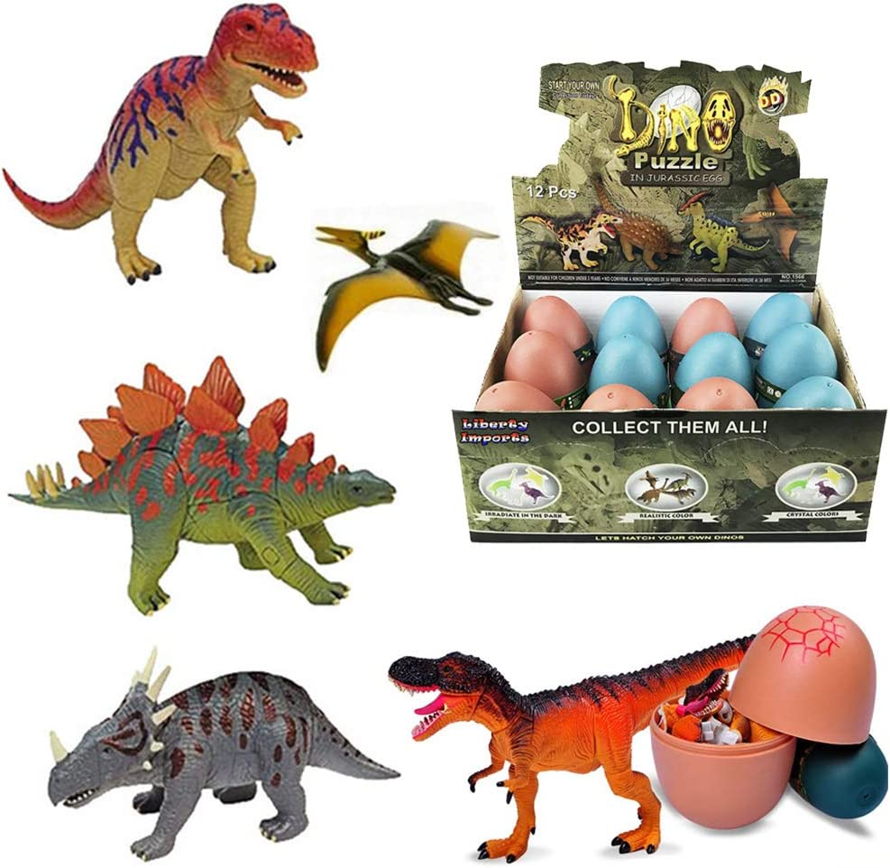 3D Dinosaur Puzzle in Jurassic Egg Educational Assembly Kit (Set of 12)