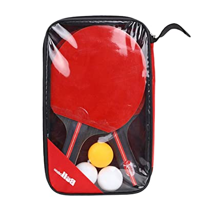 HAOWANG 1 Set Table Tennis Rackets Rubber Ping-Pong Board Paddle for Beginner Training Sports for Indoor Outdoor: Toys & Games