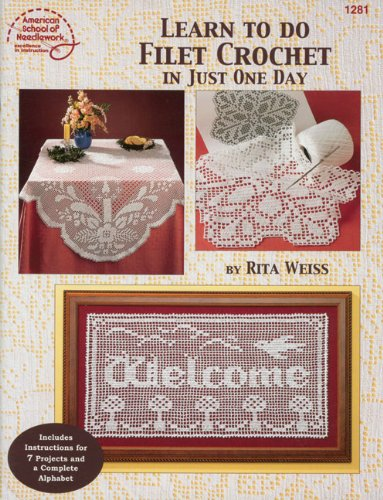 Crochet Filet Pattern - Learn To Do Filet Crochet In Just One Day - #1281