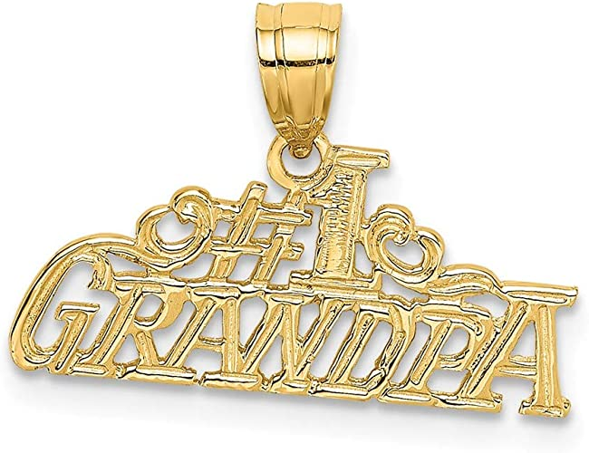 14k Yellow Gold Grandpas Little Girl Pendant