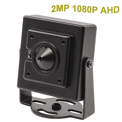 CNDST CCTV Sony 1080P HD AHD Mini cámara de seguridad espía estenopeica 2000Tvl 2MP 3.6 mm