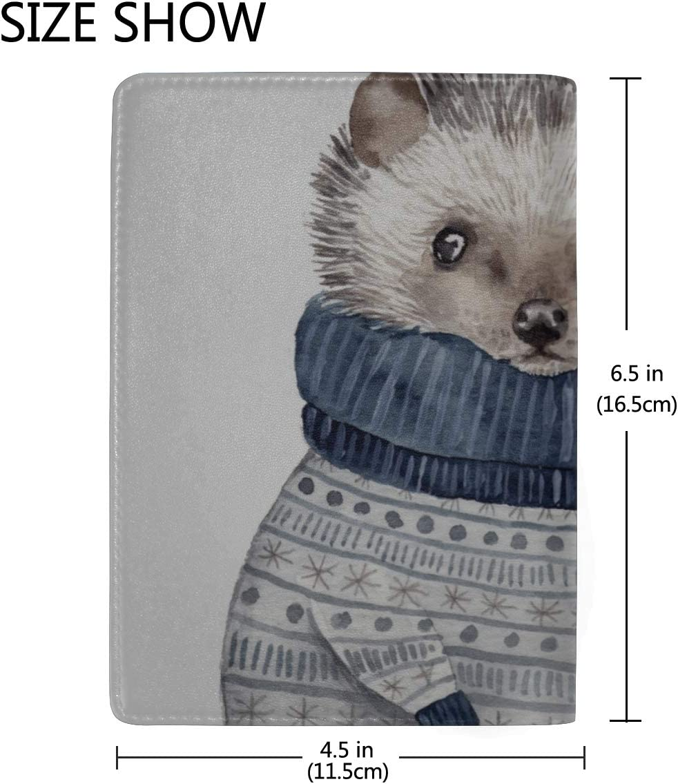 Passport Covers Women A Cute Cartoon Hedgehog Stylish Pu Leather Travel Accessories Large Passport Case For Women Men