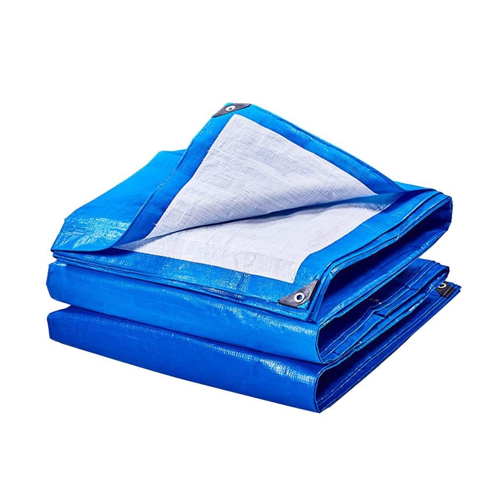 Pengbu Regenplane Multifunktionsplane, Leichtgewichts Tarps-wasserdichtes, Sonnenschutztuch UV-geschütztes blau-weißes Planenblatt, 175g   m²
