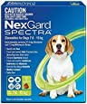 Nexgard Spectra - Flea, Tick and Worming Monthly Chew for 7.6-15kg Dog, 6 Pack