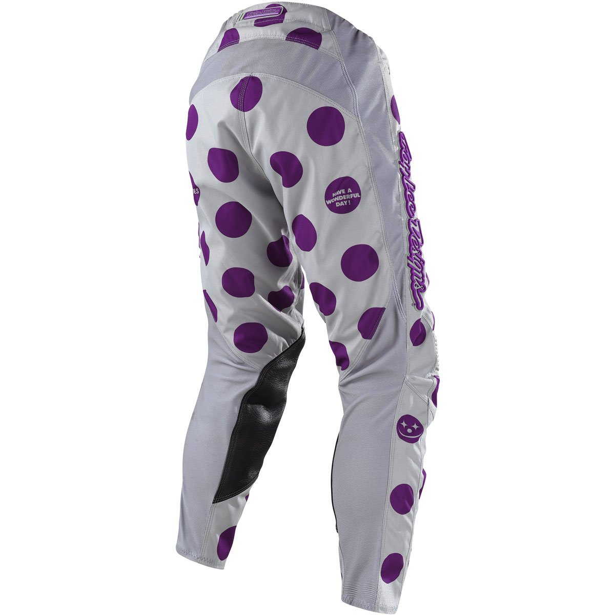 34, Gray//Purple Troy Lee Designs Mens Offroad Motocross Polka Dot GP Pant
