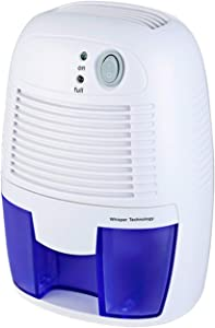 ANYVOLUME Portable Electric Mini Dehumidifier, Suitable for Reducing High Humidity in Home, Basement, Office, Caravan, 1200 Cubic Feet (150 sq ft)