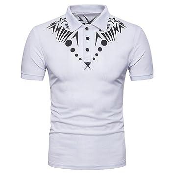 Hombres Camiseta,Sonnena ❤ ❤ ❤ Blusa Superior de Manga Corta con