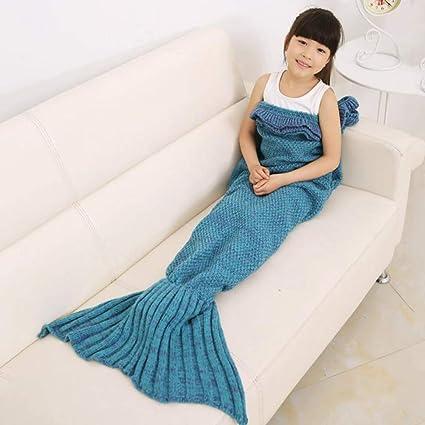 Amazoncom Mermaid Tail Blanket For Kids Toddler Polyester Crochet