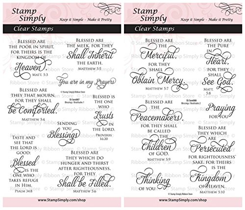 - Stamp Simply Clear Stamps Blessings and Beatitudes Christian Religious (2-Pack) 4x6 Inch Sheets - 14 Pieces