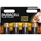 Duracell Plus Power C - Batterie Alcaline, Confezione da 4