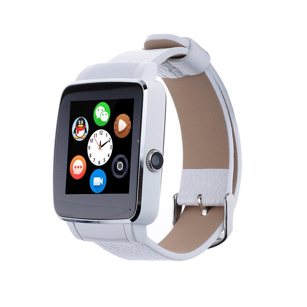 Levipower®X6 Smartwatch Pulsera NFC Con Pantalla Cámara Táctil para IOS Android Soporta SMI/TF (Blanco(X6))