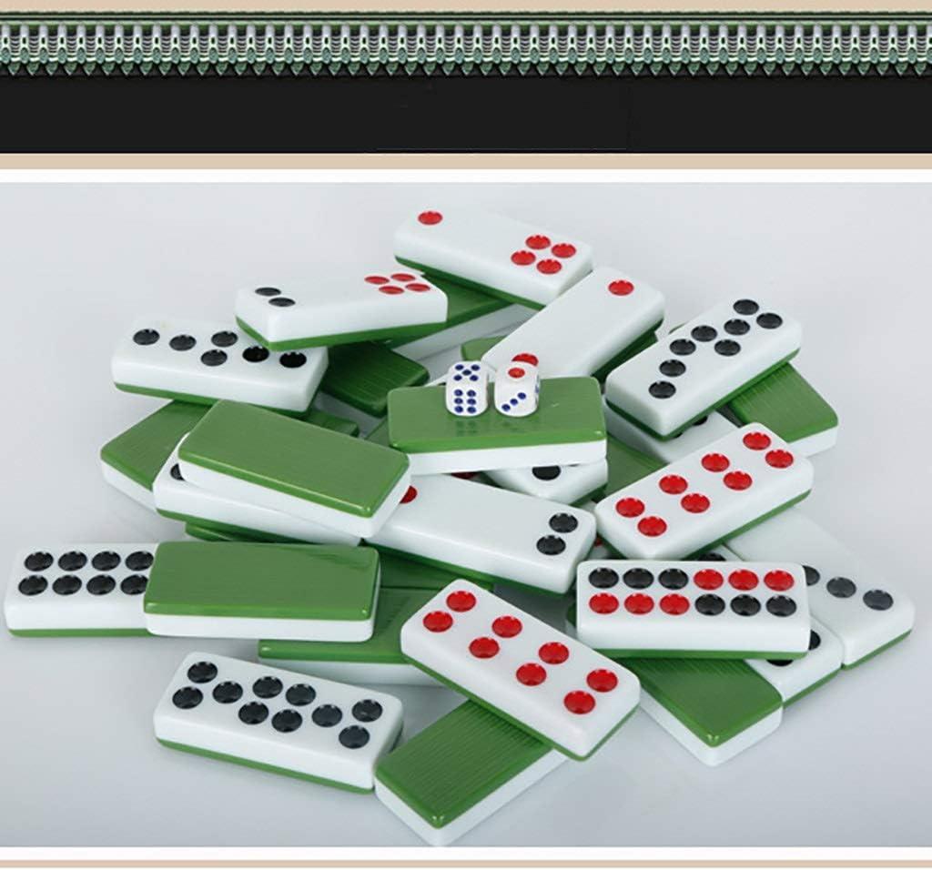 Hexiansheng Tarjetas de fichas de PAI gow Chino Juego de Juegos de Chino Tradicional Juegos de Tiempo Libre para la Familia 32 Azulejos Azul o Rojo o Blanco (Color : Rojo) :