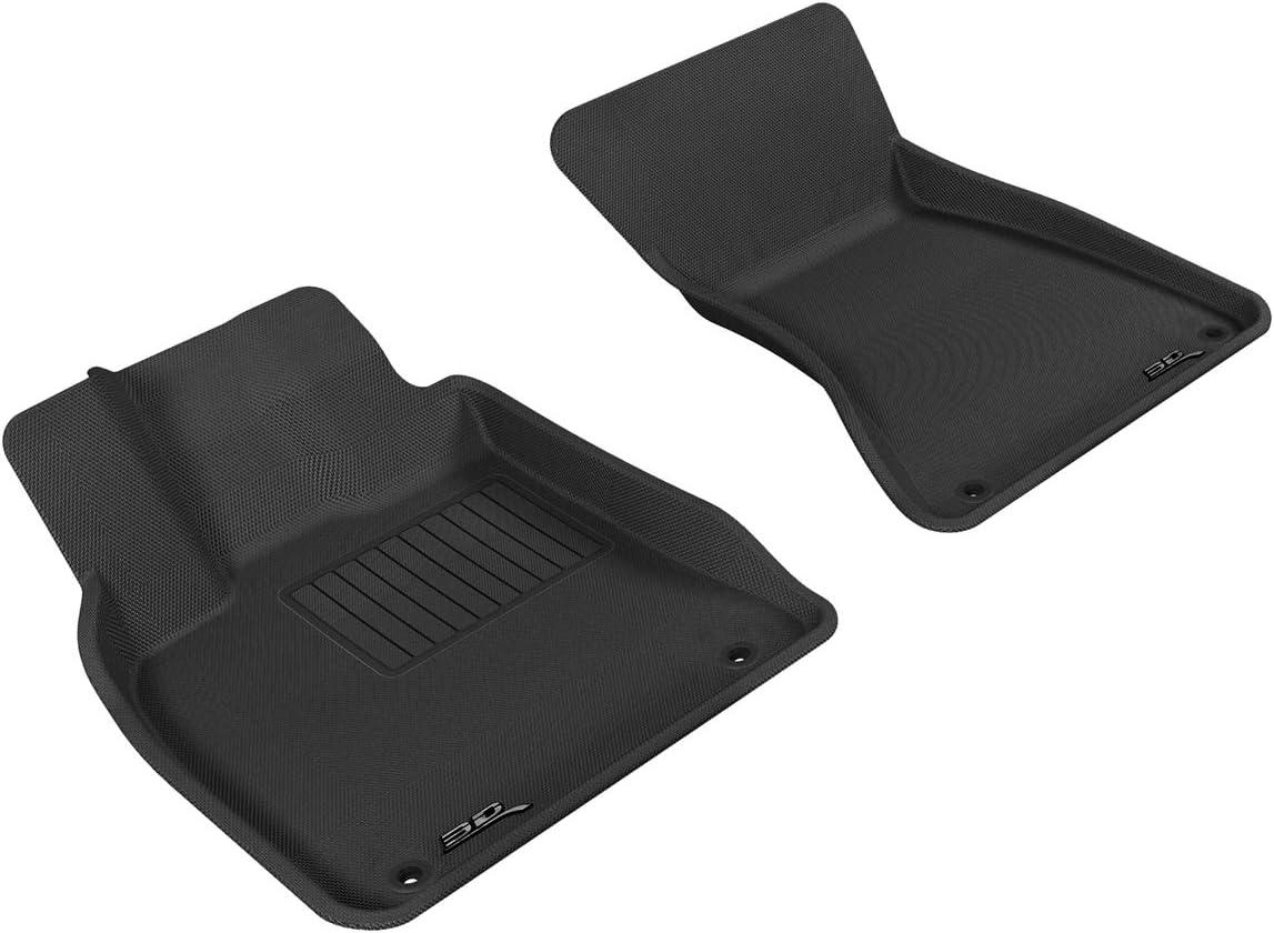 3D MAXpider Complete Set Custom Fit All-Weather Floor Mat for Select Audi Q5 Models Kagu Rubber Gray