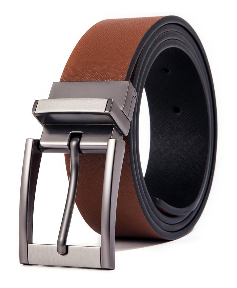 Cyparissus Genuine Leather Belt for Men with Single Prong Buckle (115CM(waist34- 36'') Belt£¨36''-38''), Brown