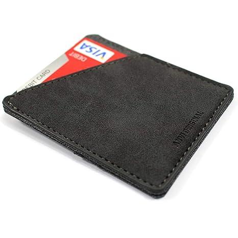 02c0b6a22f46 Anvi Original Leather & Canvas Minimalist Wallet for Men & Women - Front  Pocket Slim Wallet RFID Blocking Slim and Fashionable Design …