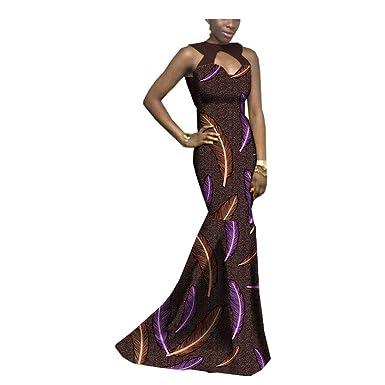 RealWax Ankara - Vestido Africano para Mujer, Estampado de Cera ...