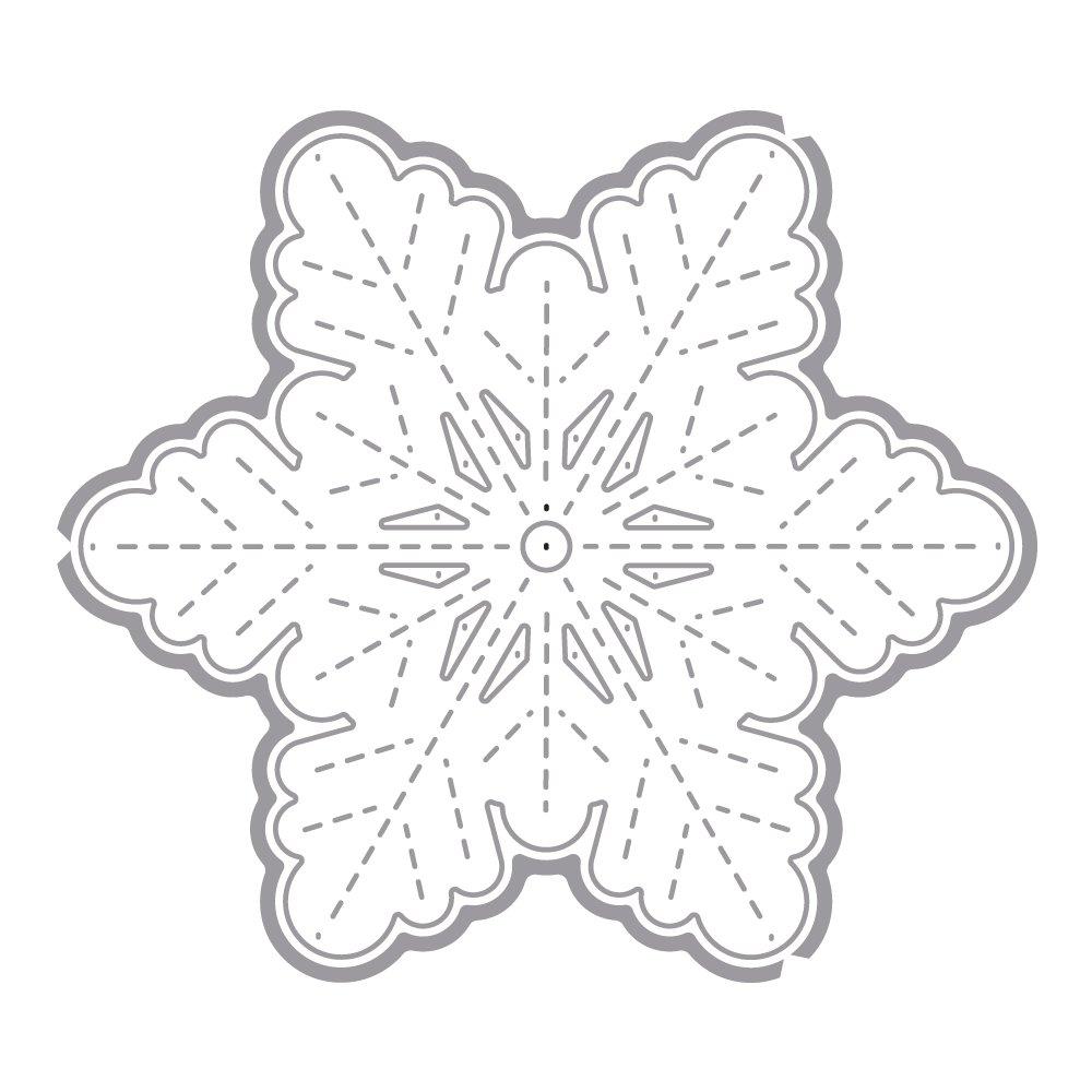 RAYHER 59708000 fustelle grandi fiocco di neve, SB-BTL, 1 pezzo 1pezzo Rayher Hobby