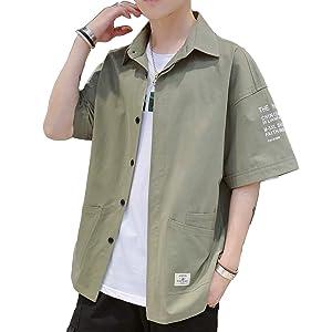 シャツ メンズ 夏服 半袖 吸汗速乾 汗染み防止 快適な 軽い 柔らかい かっこいい ワイシャツ カジュアル シンプル オシャレ 春夏秋 対応