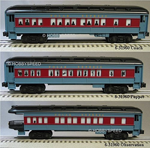 - LIONEL POLAR EXPRESS PASSENGER CARS SET OF 3