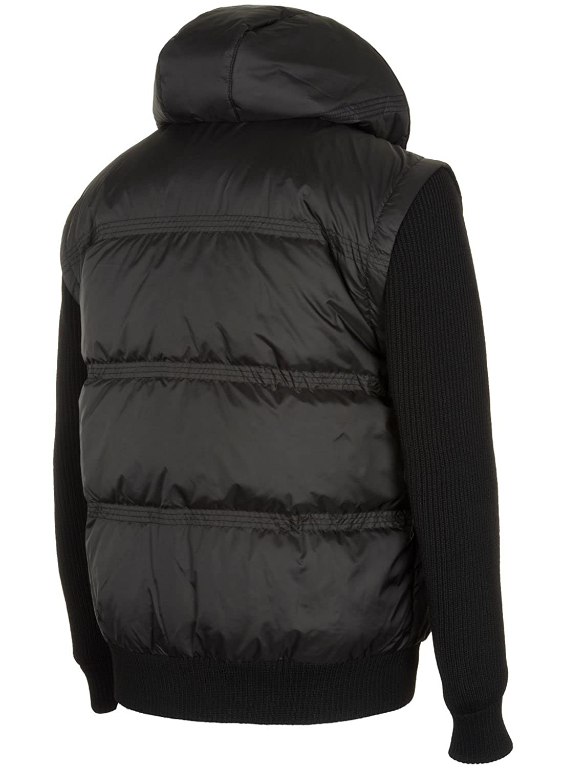 3808c012099b12 Lacoste Mens Down Jacket With Removable Hoodie Large L   EUR 54 Black at  Amazon Men s Clothing store  Down Alternative Outerwear Coats