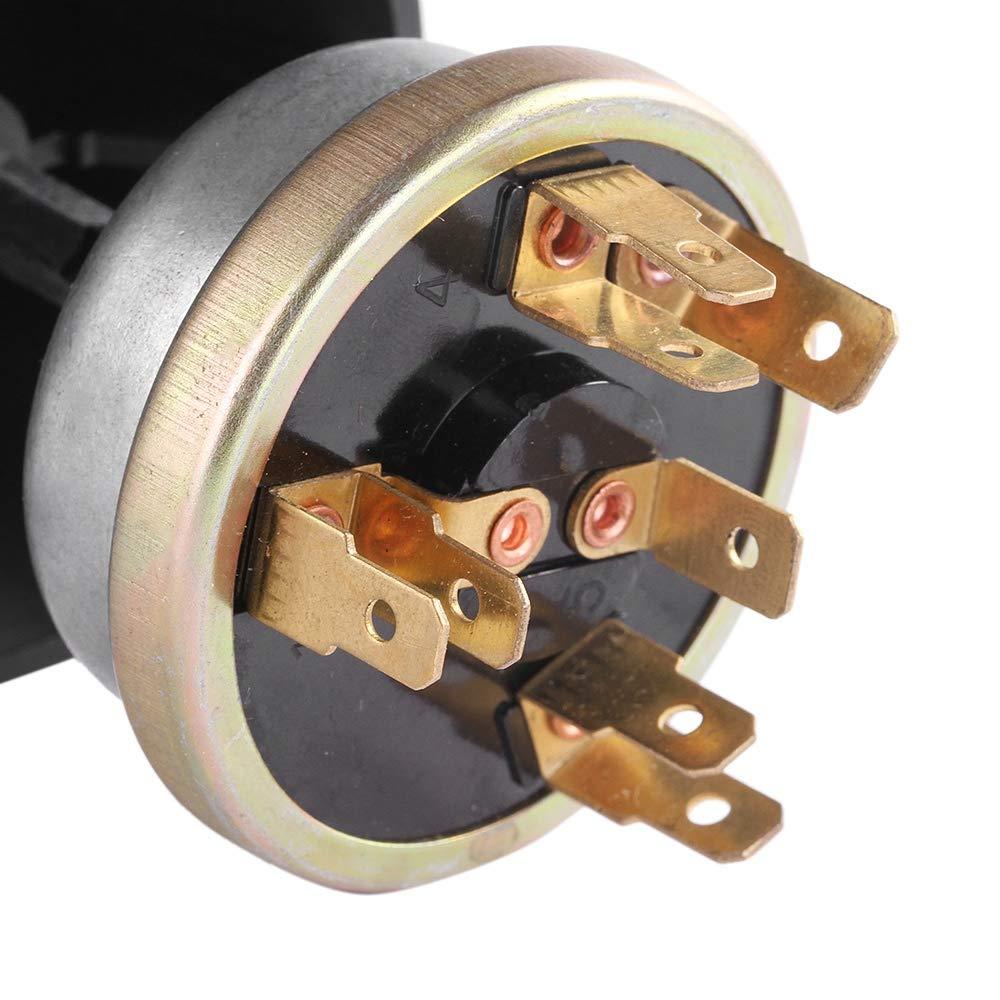 CUHAWUDBA Interruptor de Bot/óN de Bocina Interruptor de Luz de Bot/óN Interruptor de 12V una Prueba de gua para Tractor Massey Ferguson
